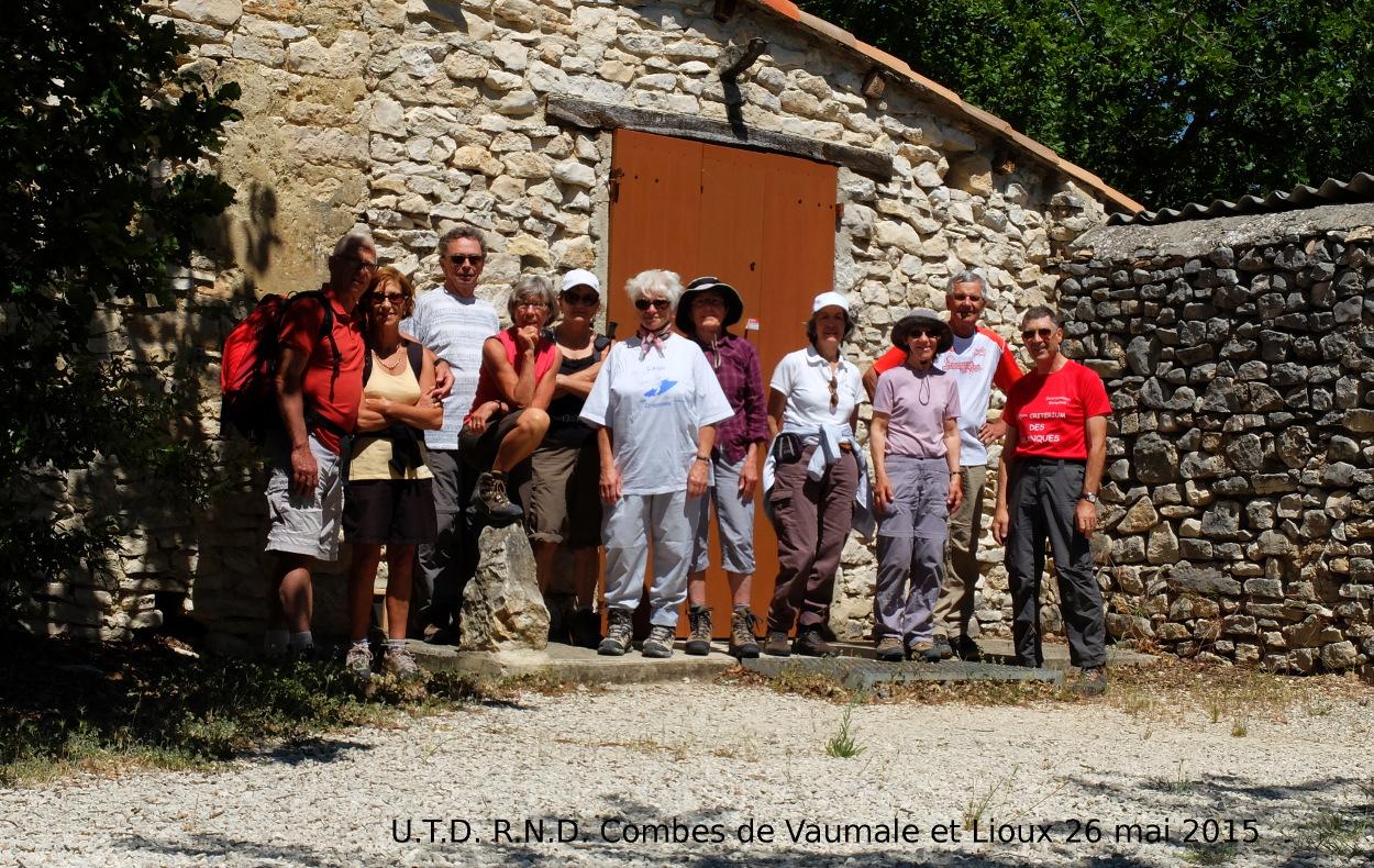 Sortie  Combes de Vaumale et Lioux 4 : le groupe