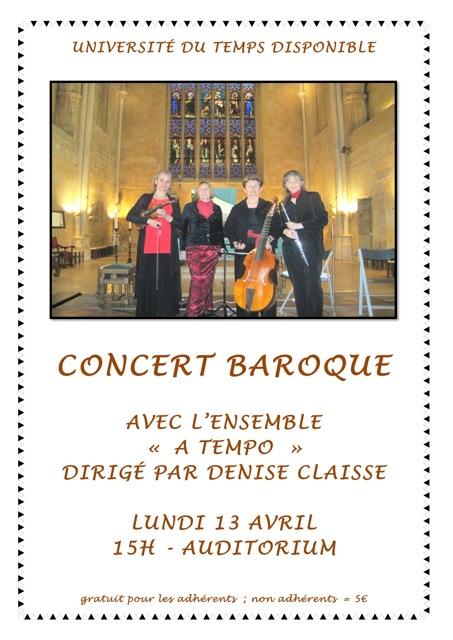 L'affiche du 3 éme spctacle concert baroque