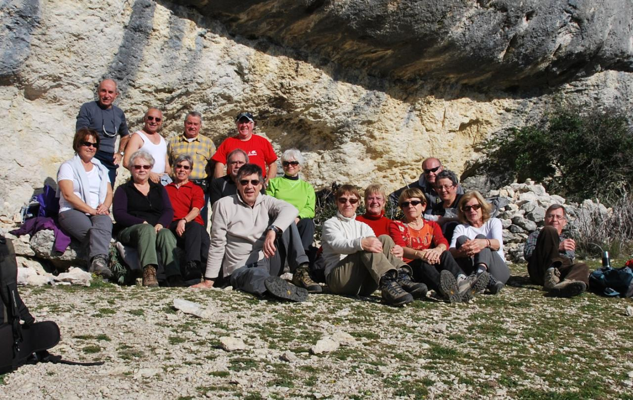 Groupe UTD Roque des Bancs 8 janv 13