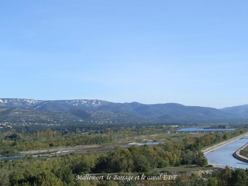 Mallemort Barrage et canal EDF