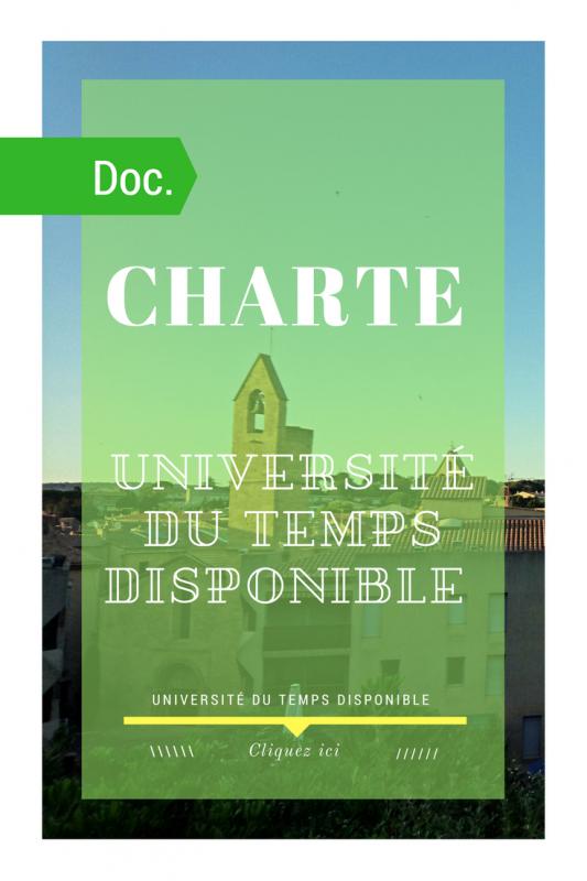 Charte des membres de i association universite du temps disponible