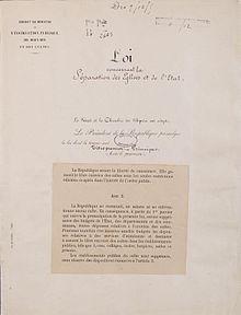 Loi de separation des eglises et de l etat page 1 archives nationales ae ii 2991 1
