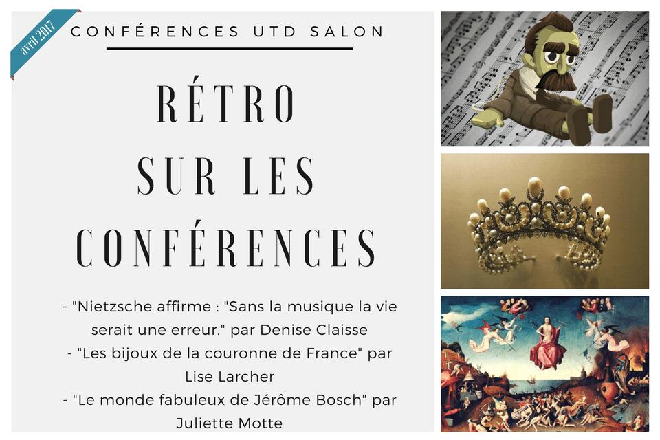 Retro sur les conferences avril 2017