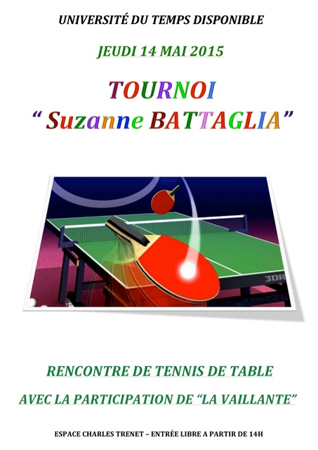 Tournoi tennis de table