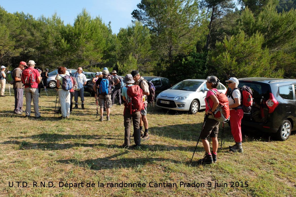 Sortie vers Bastidon du Pradon :Depart Cantian 1