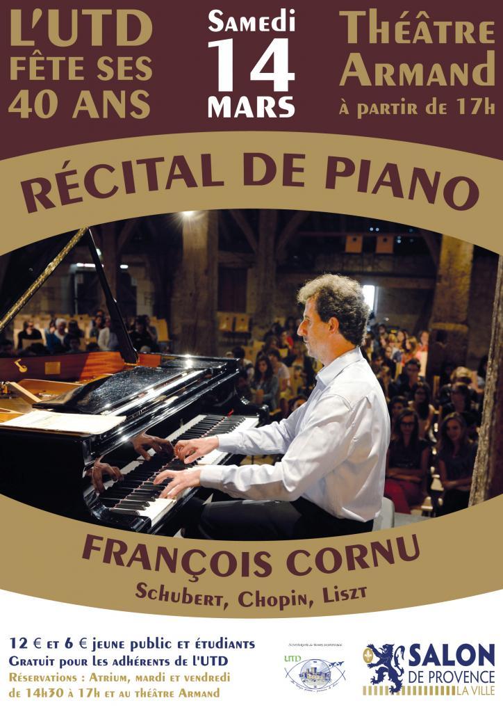 L'affiche du 2 ème spectacle concert de piano Cornu