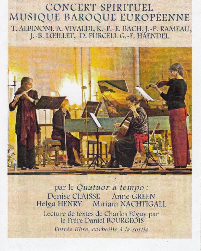 Les interprètes du groupe baroque en représentation musicale
