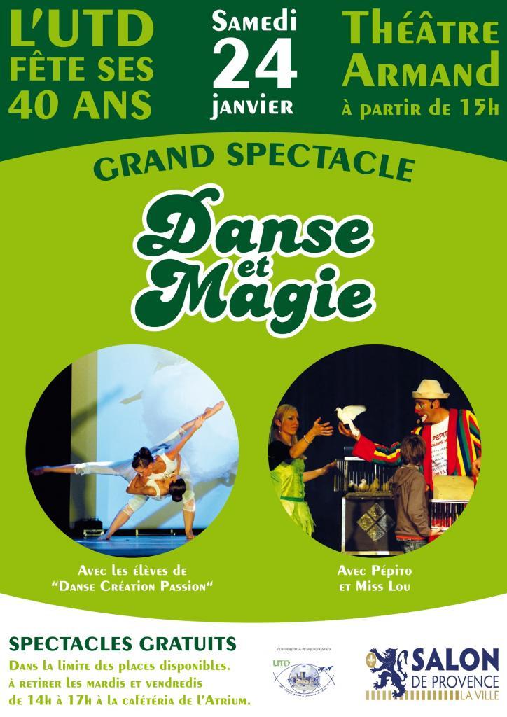 """L'affiche du premier spectacle """"Danse et Magie"""""""