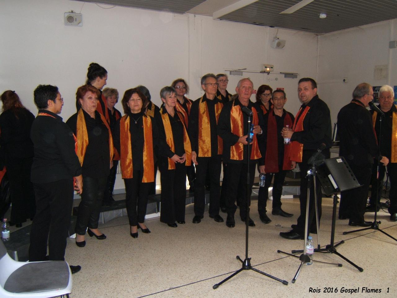 Le groupe Gospel Flames avant le concert