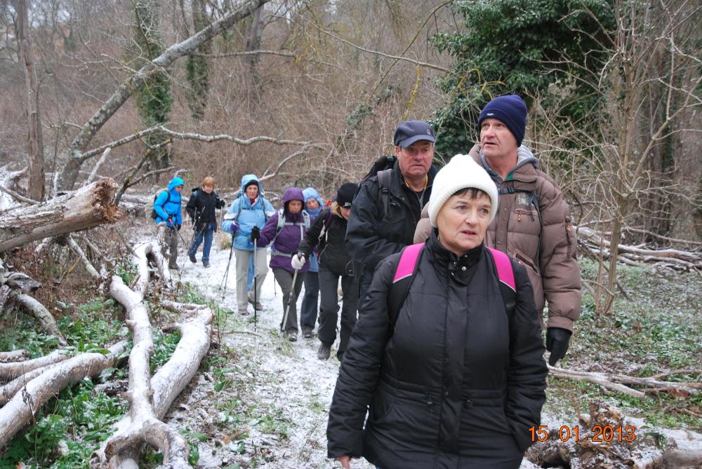 le depart Vallon de la Touloubre 15 janv 13
