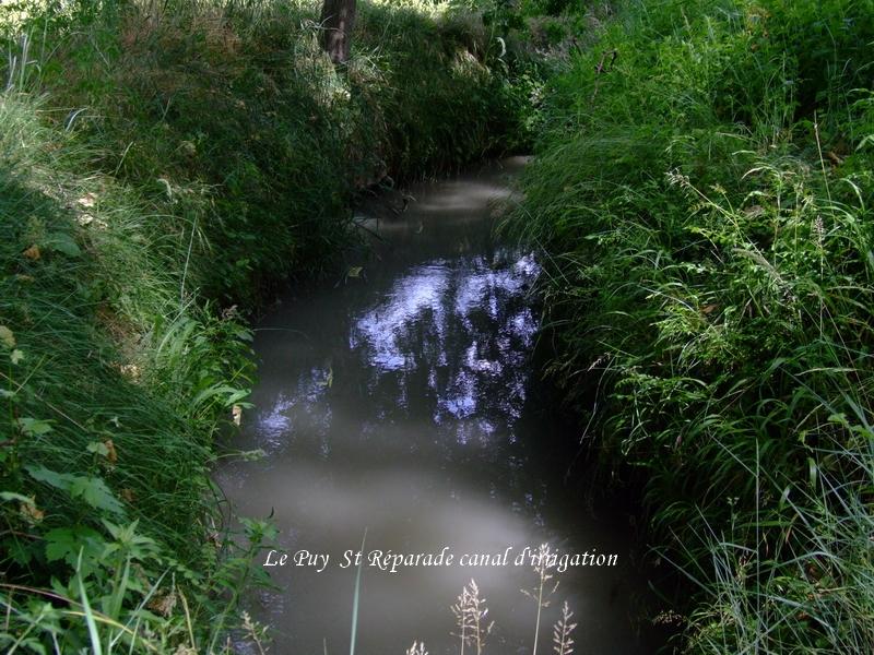 Le Puy Ste Réparade Canal d'irrigation