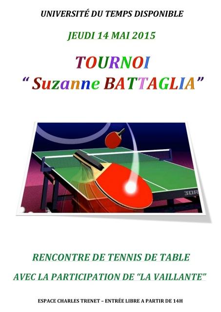 L'affiche pour ce tournoi de Ping Pong