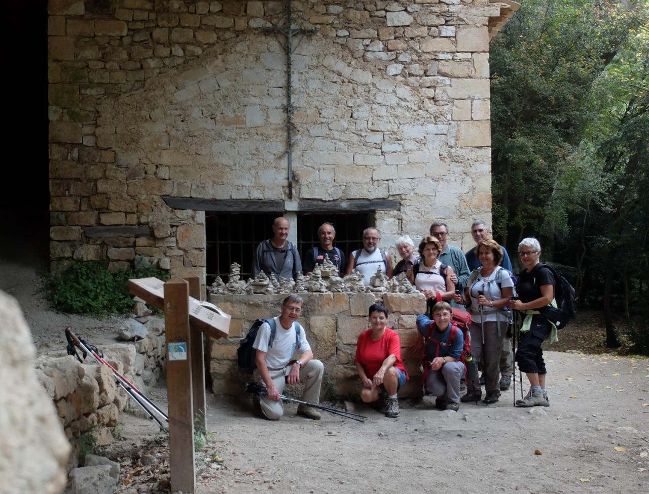 Le groupe  à La Nesque