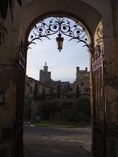 Vue sur la cité médiévale