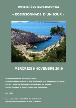 Robinsonnade Marseille - Novembre 2019