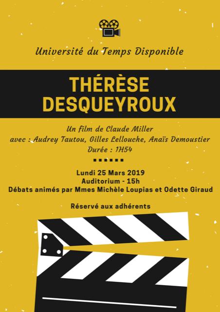 Cinema utd therese desqueroux