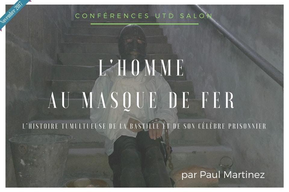 Conference novembre 2017 utd homme au masque de fer