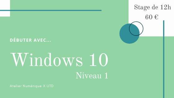 Formation windows 10 debutant salon de provence