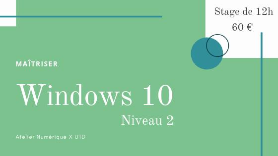 Formation windows 10 intermediaire salon de provence
