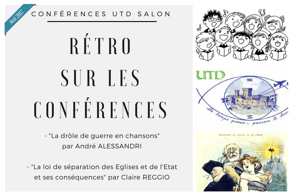Retro sur les conferences mai 2017