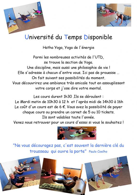 Universite du temps disponible yoga