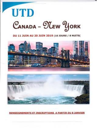 Voyage canada new york
